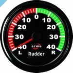 Индикатор угла поворота руля ECMS 85 мм, черный