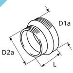 Усадочная муфта Webasto для шлангов 90/80 мм