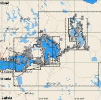 Ладожское и Онежские озера, реки Нева, Свирь, Финский залив (EN-M604)
