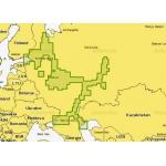 Карта для навигации по воде Navionics + 52XG Европейская часть России
