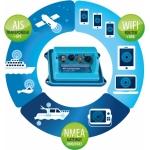 VESPER MARINE XB-8000 CLASS B TRANSMITTING AIS + WIFI AND NMEA CONVERTER